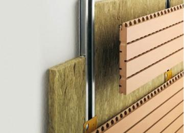Монтаж стеновых акустических панелей